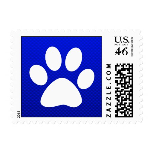 Blue Paw Print Stamp