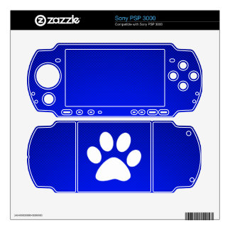 Blue Paw Print Sony PSP 3000 Decals