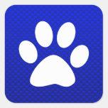 Blue Paw Print Sticker
