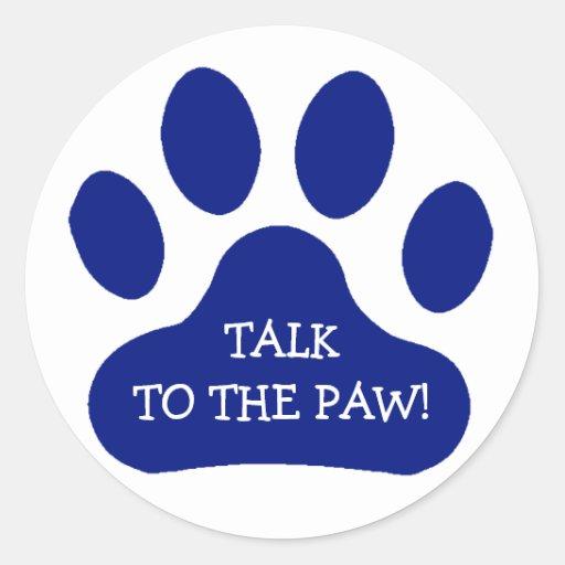 Blue Paw Print Stickers