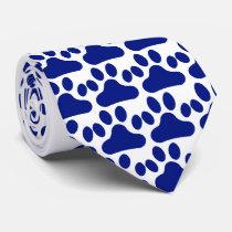 Blue Paw Print Tie