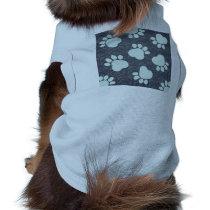 Blue Paw Print Zazzle Pet Gift Item Shirt