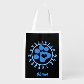 Blue Paw Therapy Dog Gear Bag Grocery Bag