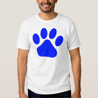 Blue Pawprint T-shirt