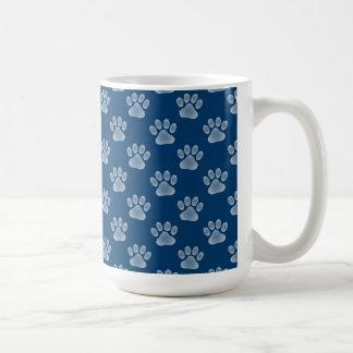 Blue Paws Classic White Coffee Mug