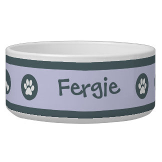 Blue Paws Personalized Dog Bowl