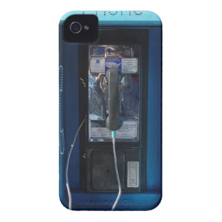 BLUE PAY PHONE PHOTO PRINTED iPhone 4 Case-Mate CASE