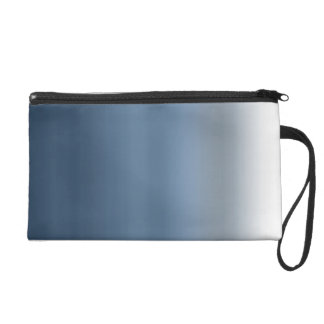 Blue Payne's Grey Watercolor Dip Dyed Ombre Gray Wristlet Purses