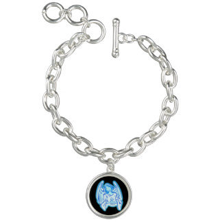 Blue Peace Angel Charm Bracelet