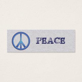 Blue Peace Bookmarks Mini Business Card