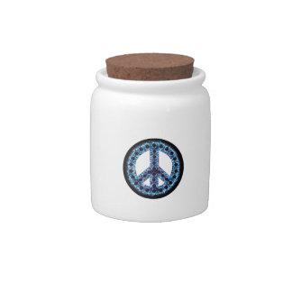 Blue Peace Candy Jar