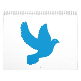 Blue peace dove calendar
