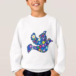 Blue Peace Dove made of decorative flowers Sweatshirt