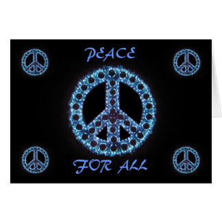 blue peace for all greeting card