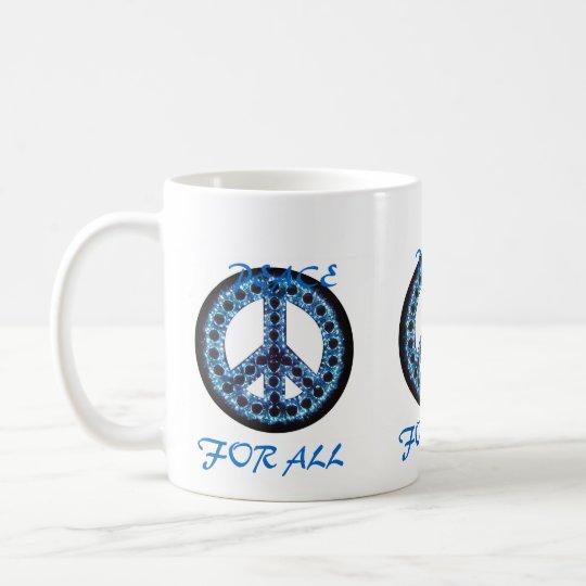 blue peace for all mug