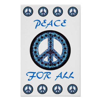 blue peace for all poster