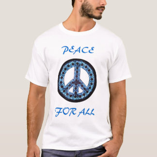 blue peace for all tee