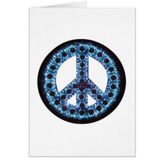 blue peace greeting card