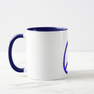 Blue Peace, Heart Mug