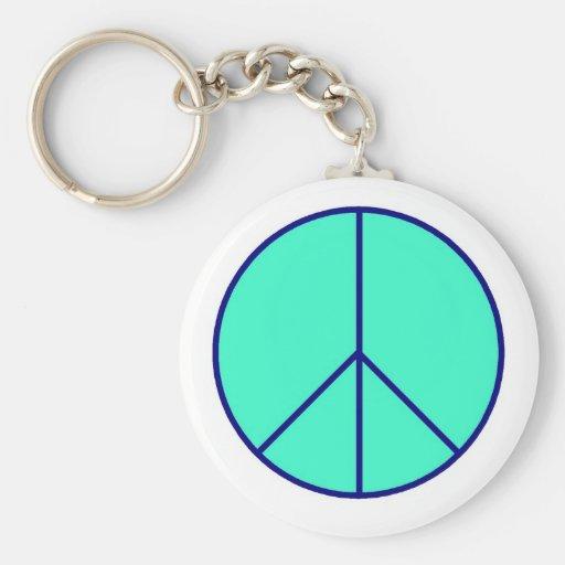 Blue Peace Key chain