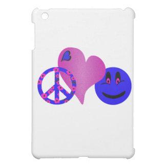 Blue Peace Love Happiness iPad Mini Cover