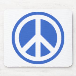 blue peace mouse mat