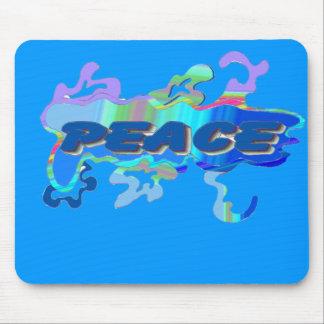 blue peace mousepad