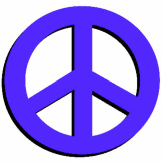 Blue Peace Photo Sculpture