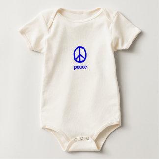 blue peace sign baby bodysuit
