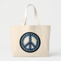 blue peace sign bag