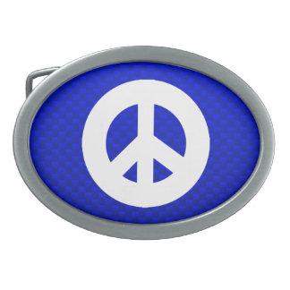 Blue Peace Sign Belt Buckles