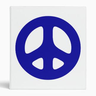 Blue Peace Sign Binder