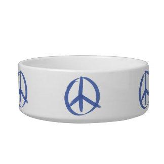 Blue Peace Sign Bowl
