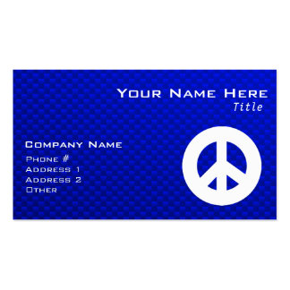 Blue Peace Sign Business Card