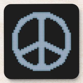 Blue Peace Sign Coasters