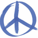 Blue Peace Sign Cut Outs