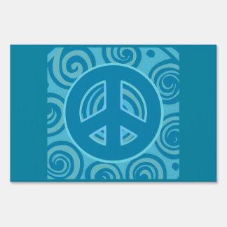 Blue Peace Sign Design