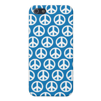 blue peace sign iPhone SE/5/5s cover