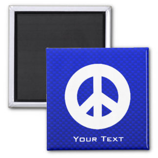 Blue Peace Sign Refrigerator Magnet