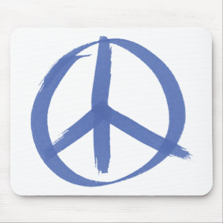 Blue Peace Sign Mousepad