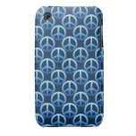 Blue Peace Sign Pattern iPhone 3 Cover