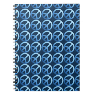 Blue Peace Sign Pattern Notebook