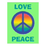 Blue Peace  Sign Postcards