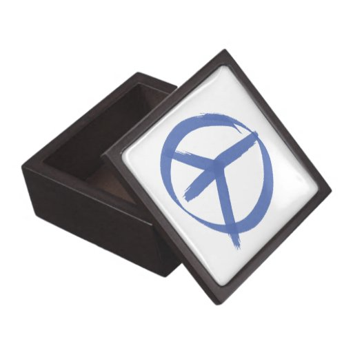 Blue Peace Sign Premium Gift Boxes