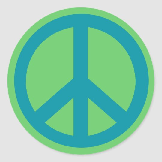 Blue Peace Sign Products Classic Round Sticker
