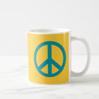 Blue Peace Sign Products Coffee Mug