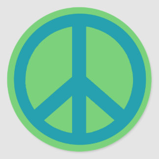 Blue Peace Sign Products Round Sticker