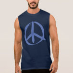 Blue Peace Sign Pullover