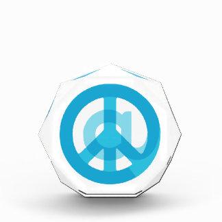Blue @Peace Sign Social Media At Symbol Peace Sign Award