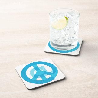 Blue @Peace Sign Social Media At Symbol Peace Sign Beverage Coaster